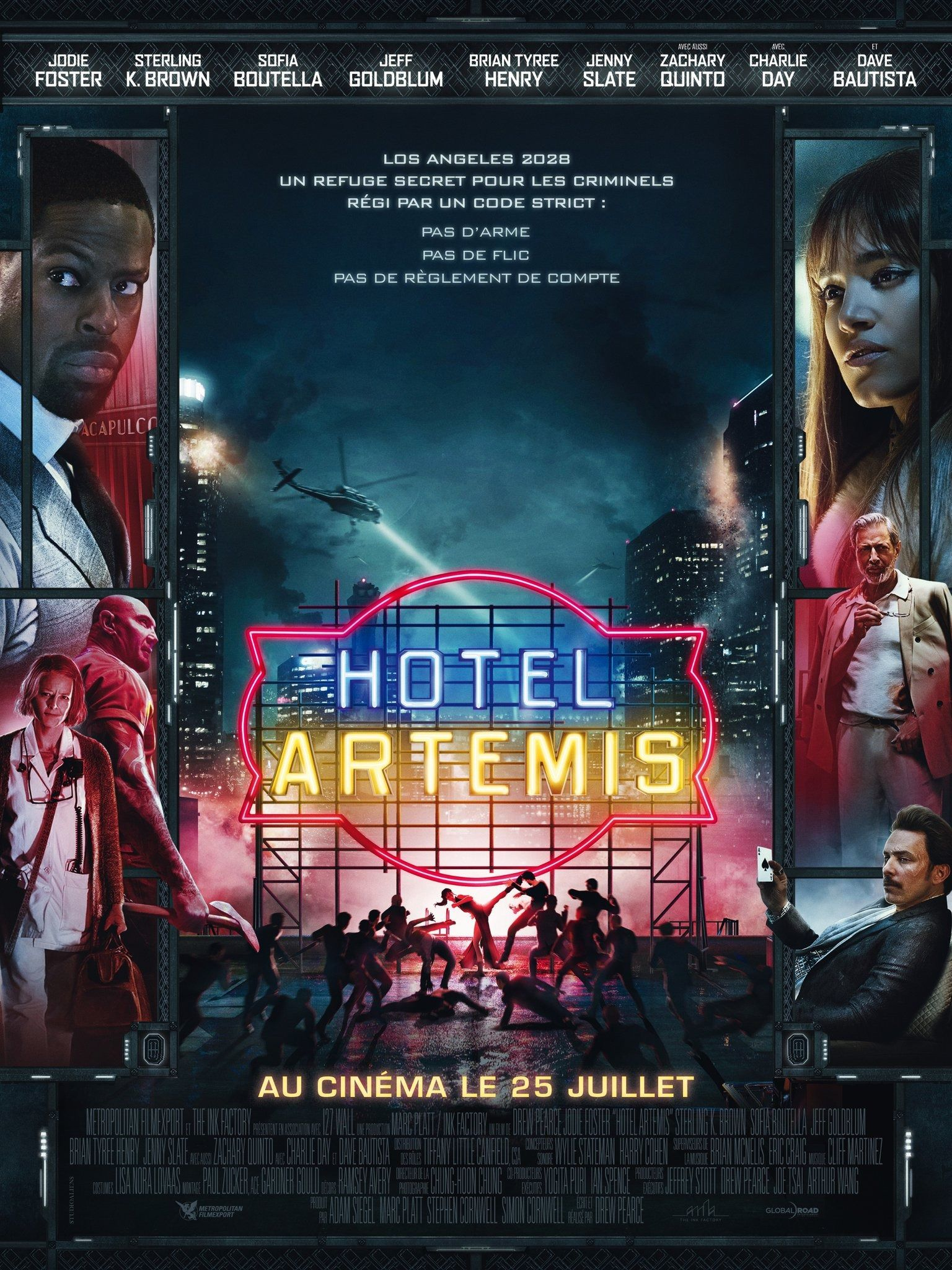 New French Poster For Hotel Artemis Peliculas Completas Poster De Peliculas Peliculas