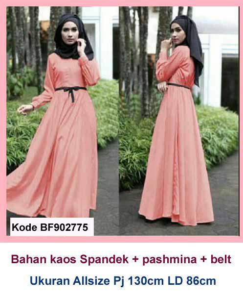 Model Busana Muslim 2019  Model Baju Gamis Bahan Kaos Terbaru ee1bf3f987