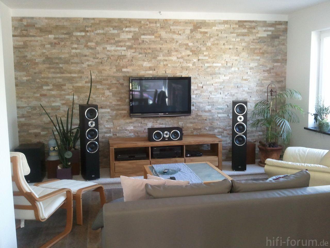 Erstaunlich Wandgestaltung Wohnzimmer Altbau : Wohnzimmer Ideen Mit Steintapete  Wohnzimmer Design