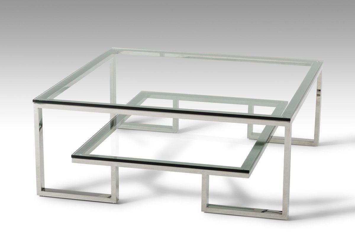 Modrest Topaz Modern Glass Coffee Table