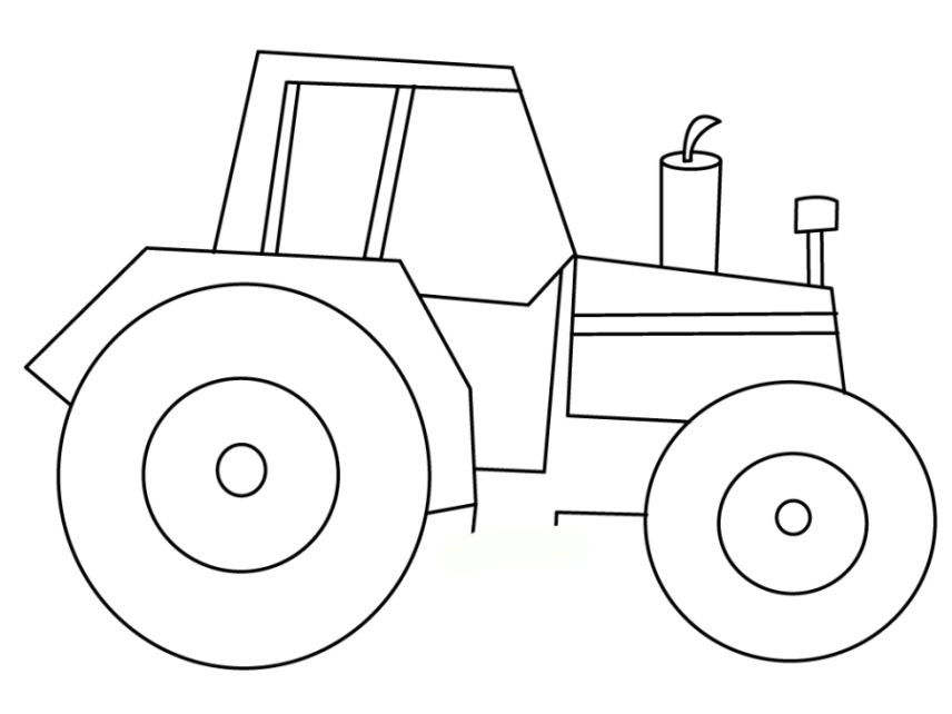 traktor ausmalbilder 09   Tractor coloring pages, Tractor ...