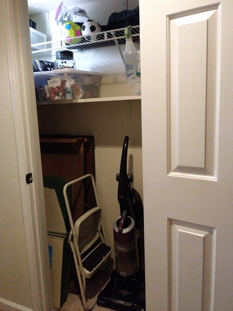 I converted my hall coat closet to add storage now i have