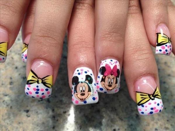 3d Miney Mouse Nail Art Tags Acrylic Mickey And Minnie Mousenail