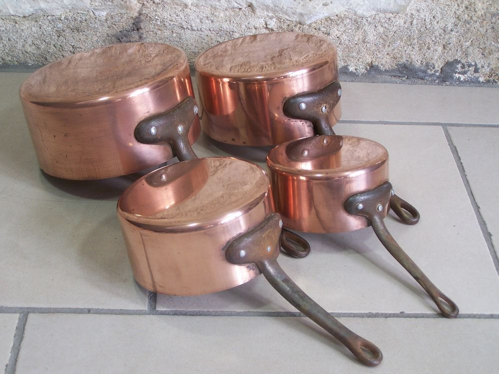 Vintage French Copper Cookware Beautiful Copper