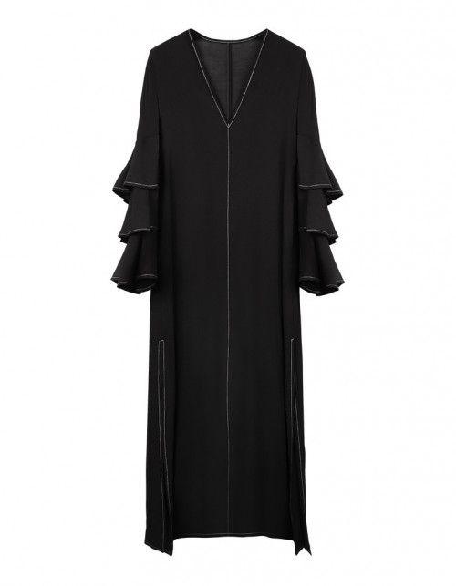 Sukienka maxi z falbanami | Kleider, Mode und Maxi kleider