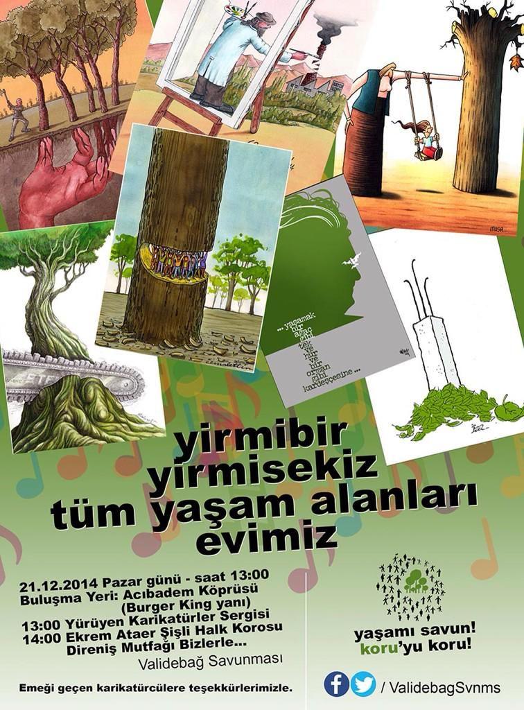 """""""@Guney178: """"yirmibir yirmisekiz tüm yaşam alanları evimiz"""" karikatürlerimiz,türkülerimiz #Validebağ için """" #istanlook"""