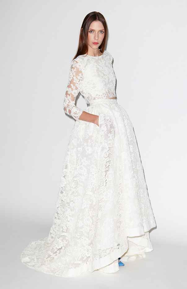 7181157281 This Double Lace Duo in 2019   Wedding   Wedding dresses, Two piece ...