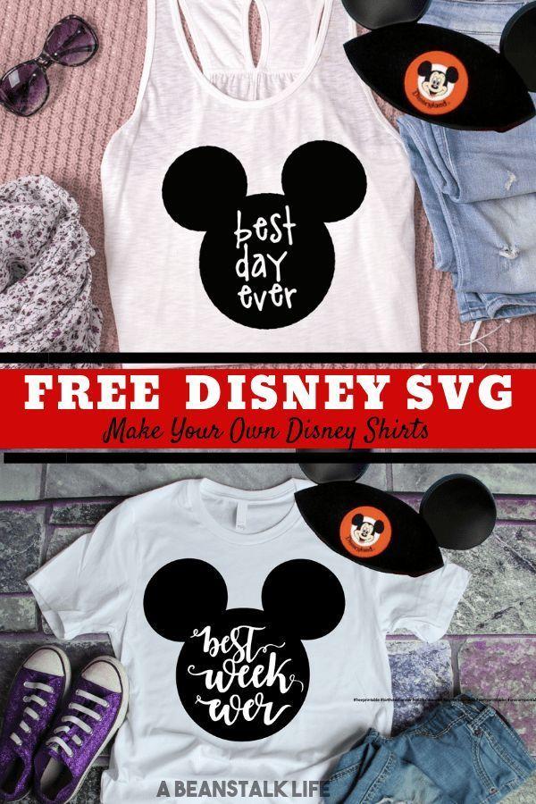 Disney SVG Files Free Best Day Ever Disney Shirt