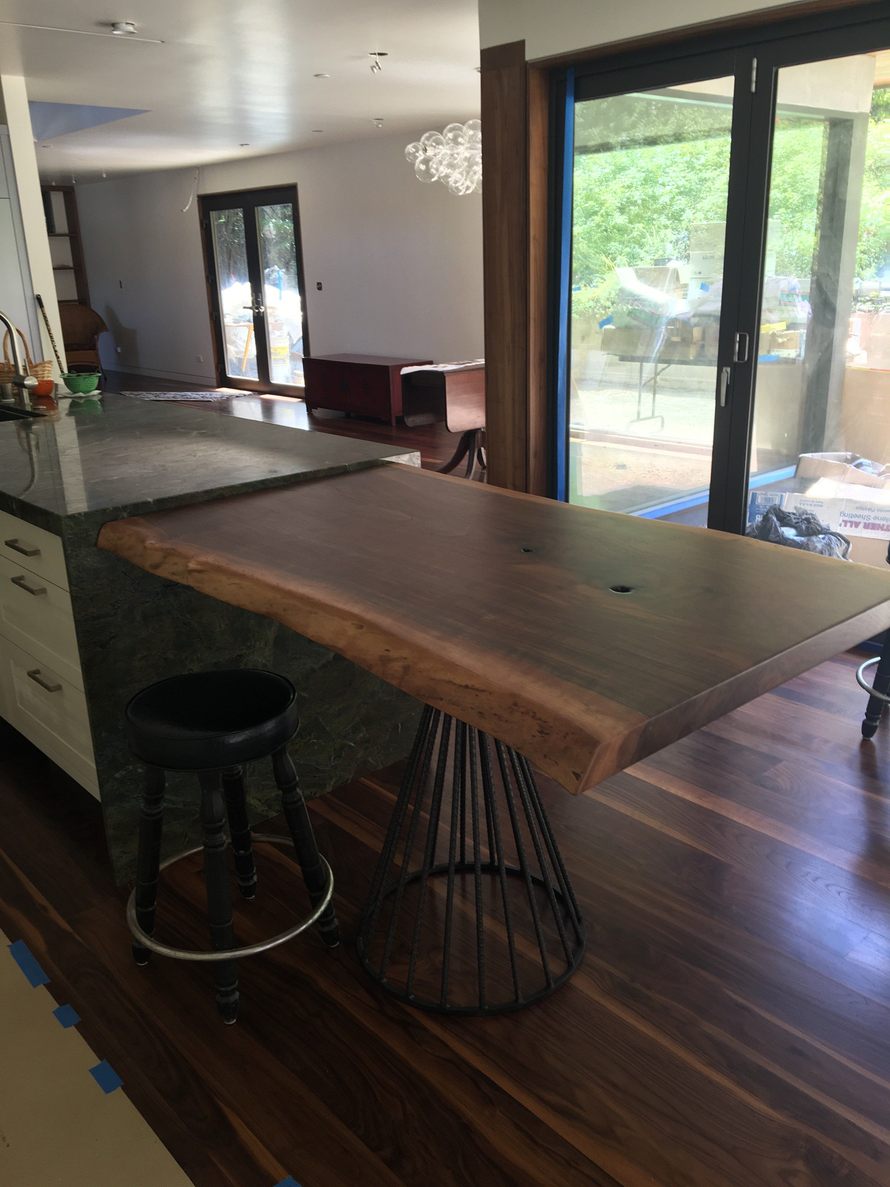 Live Edge Island Extension Google Search Counter Height Dining