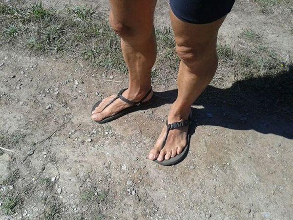 huaraches pies sucios terra