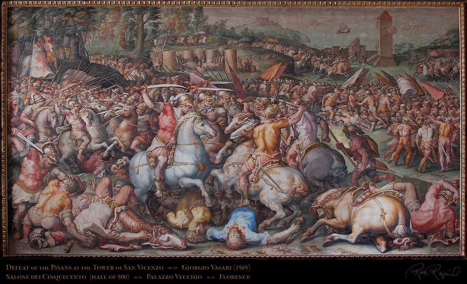 De battaglia di marciano van giorgio vasari blz 112 for Battle of marciano mural
