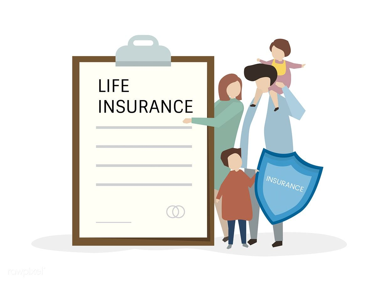 Illustartion Of People With Life Insurance Free Image By