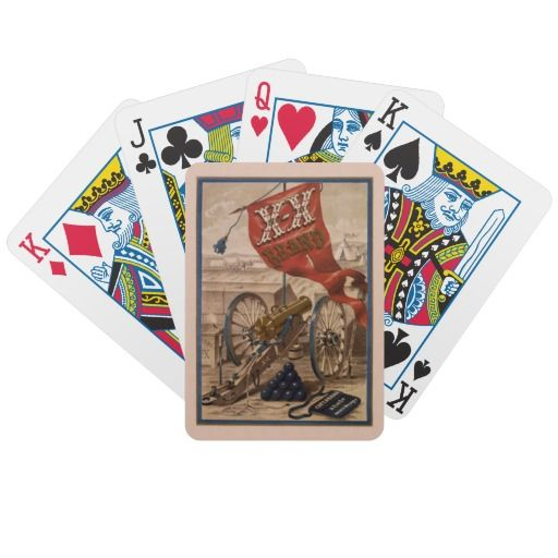 19th Century Vintage Cannon Playing Cards