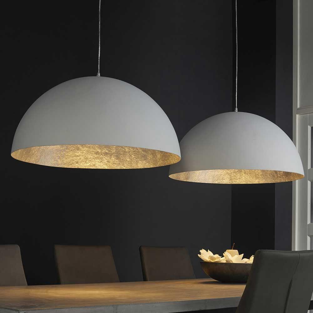 lovely esszimmerleuchte #1: Esszimmerleuchte Camilla in Weiß Kunststoff halbrund #LampEettafel