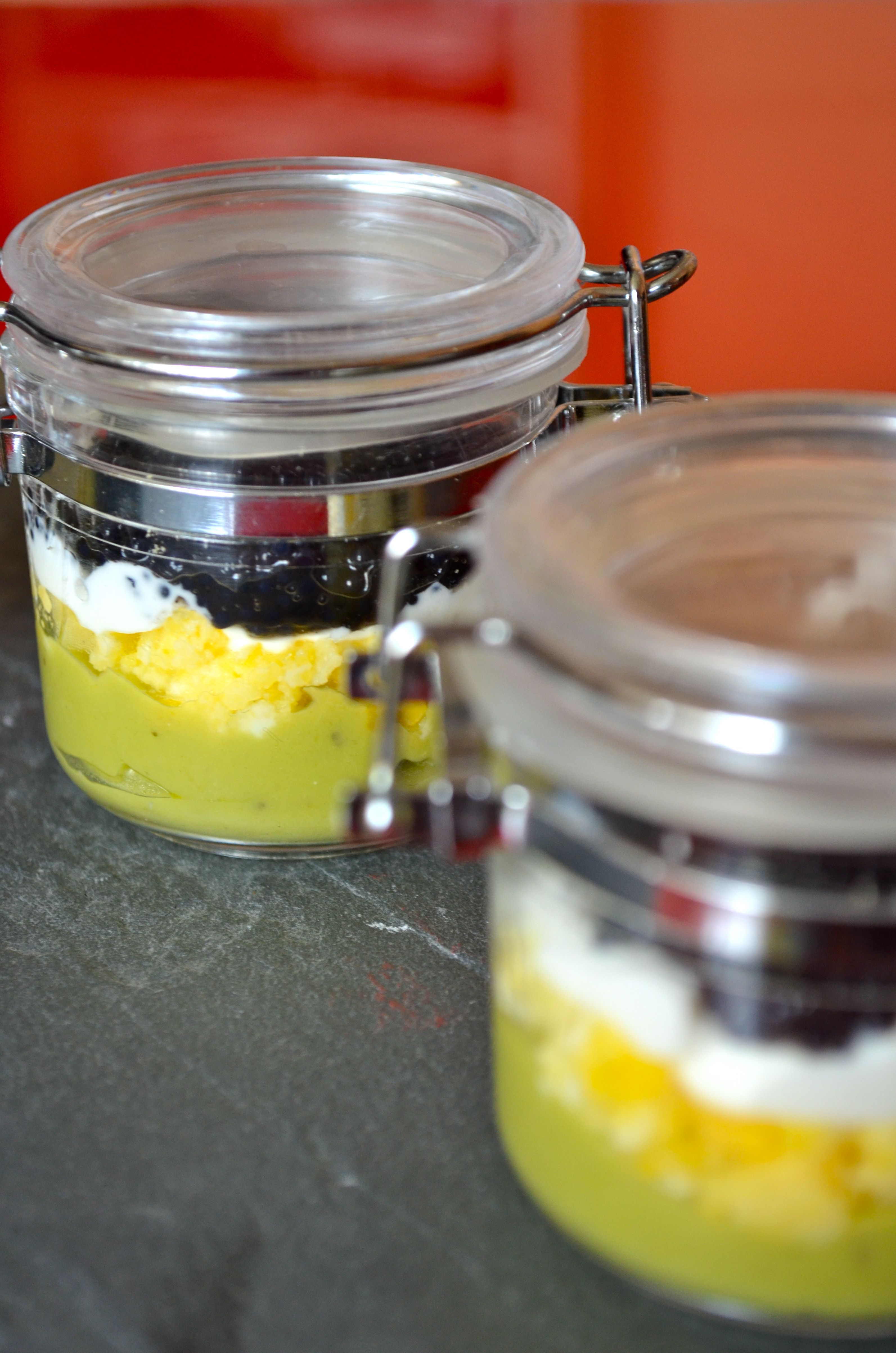 Guacamole, egg, sour cream and lumpfish roe