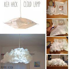 cloud lampshade from ikea varmluft baby pinterest activit s manuelles pour enfants deco. Black Bedroom Furniture Sets. Home Design Ideas