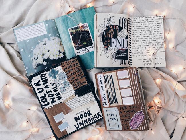 Art Journal Covers Ideas Inspiration Artists Notebooks Creative Photography White Aesthetics Instagram Flatlay Tumblr Fairy Lights Room Diy Craft