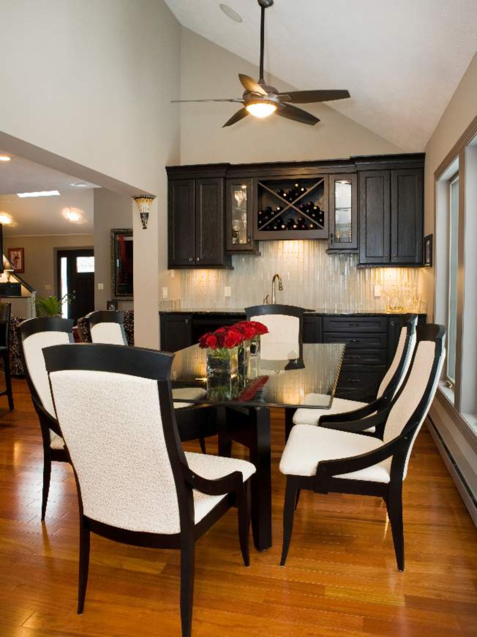 Love The Extra Dining Room Storage Transitional Dining Room