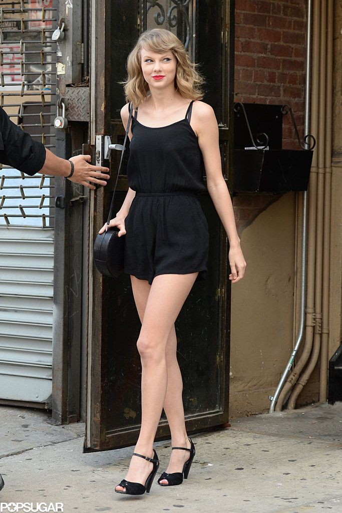 Taylor Swift's stems were front and center when the singer stepped out in NYC on Saturday.