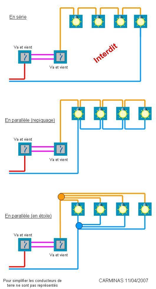 schémas électriques pour montages de luminaires Utiles Pinterest