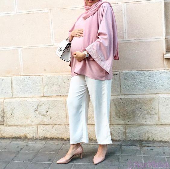 En Rahat 2020 Tesettür Hamile Elbise Modelleri