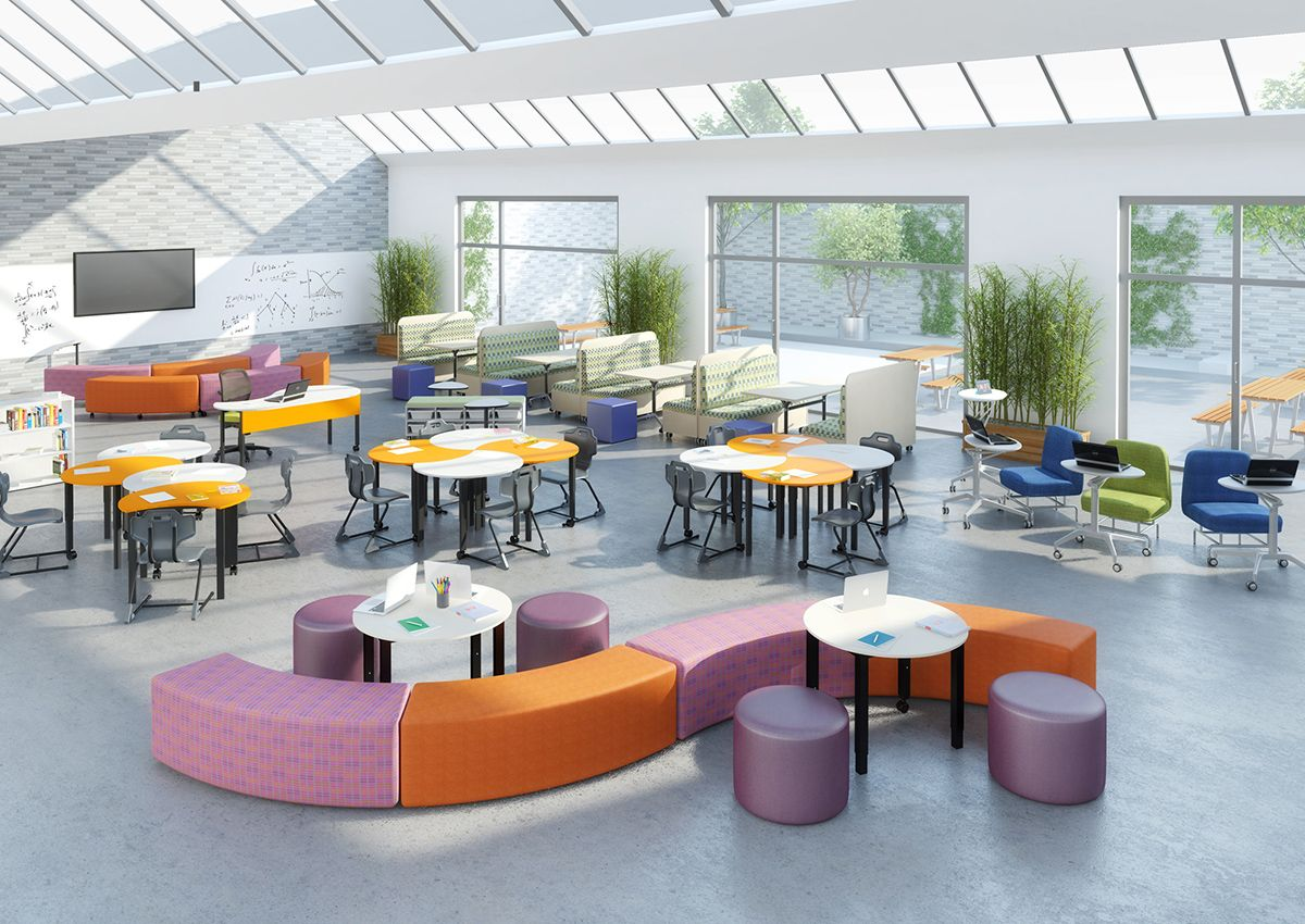 Unique Classroom Design ~ Open plan classrooms with break out spaces offer unique