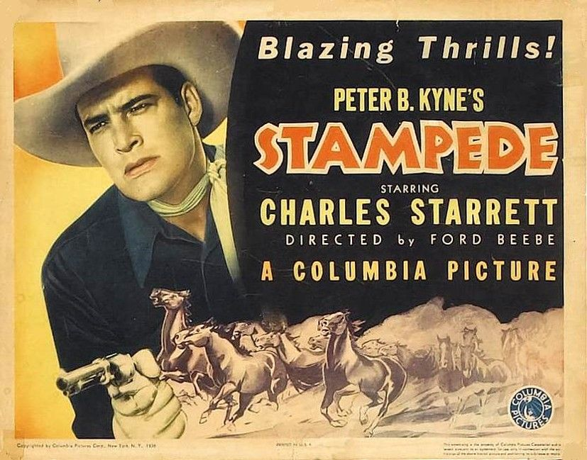 Stampede Ford Beebe 1936 With Images Old Western Movies