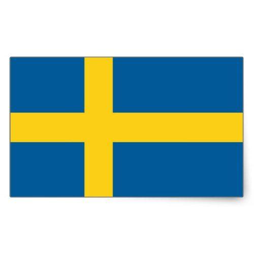 SWEDEN RECTANGULAR STICKER