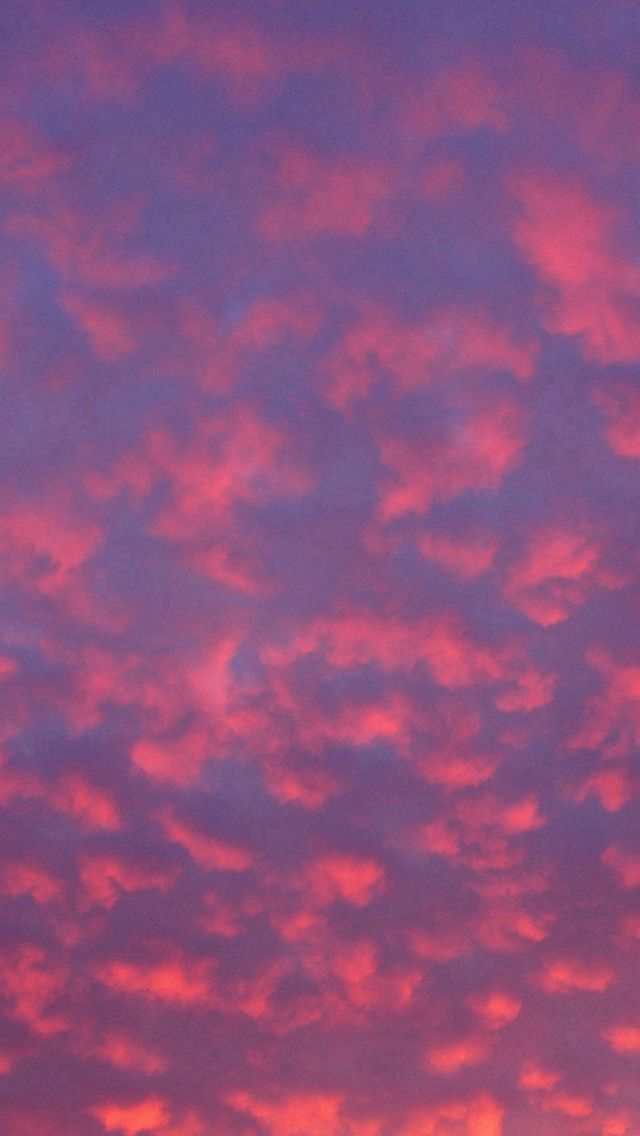 Cloud Sky Sunset Pattern Red IPhone 5s Wallpaper