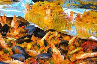 Paella at the Tournon market