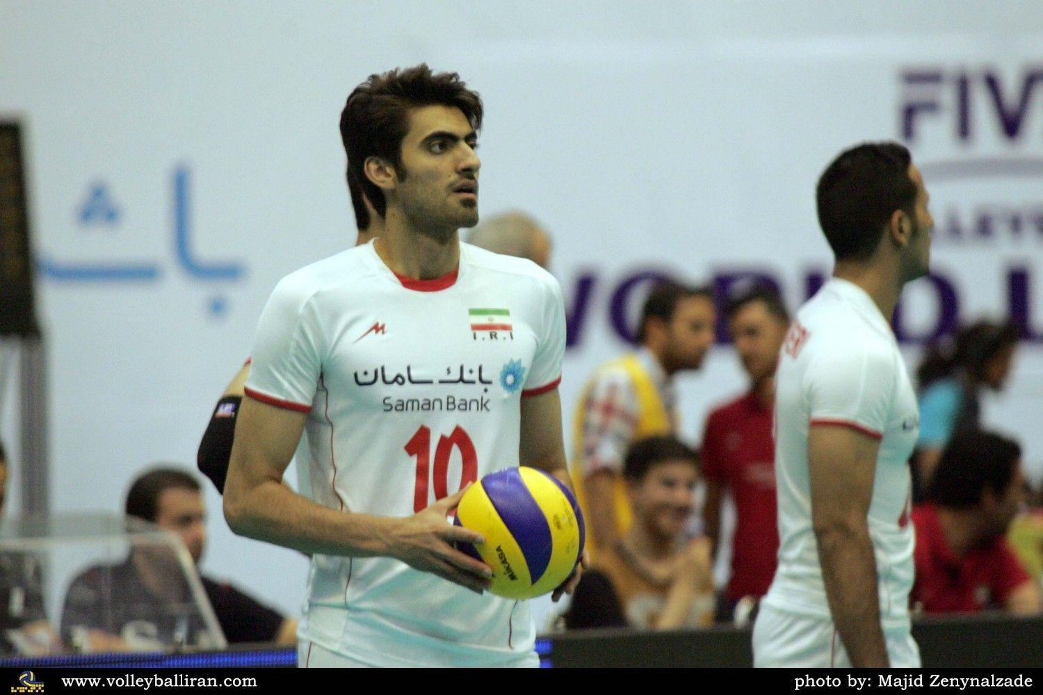 Amir Ghafour Persian امیر غفور Born 6 June 1991 In Kashan Is A Volleyball Player From Iran Who Plays As An Opposite F Volleyball Water Polo Sports Jersey