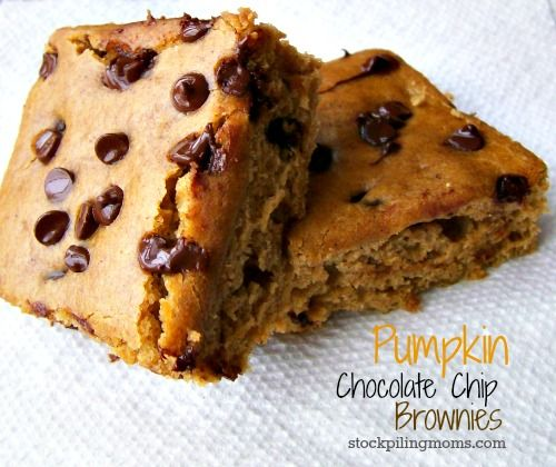 Pumpkin Chocolate Chip Brownie recipe is so yummy!