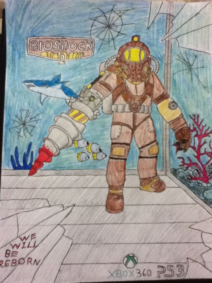 A custom Bioshock 2 cover I did about a year ago.  -By Cheshire Cat  #Bioshock