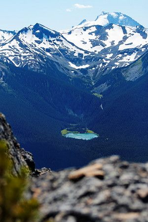 Lookout at Whistler Mountain, Whistler BC, August 24, 2010.