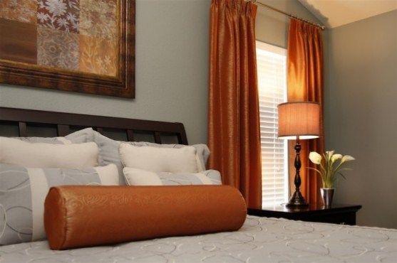 Sweet Orange Bedroom Design Ideas wwwrumahdesainxyz Pinterest