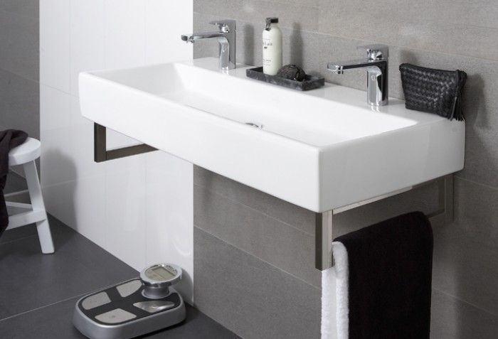 Wastafel en wandcloset met ceramicplus van villeroy boch optimale hygi ne en bijzonder - Toilet wastafel ...