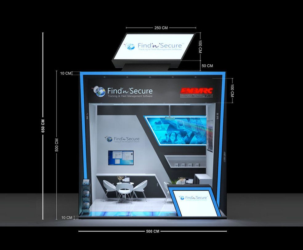 Custom exhibition stand for Embarc Information Technology (P) ltd.