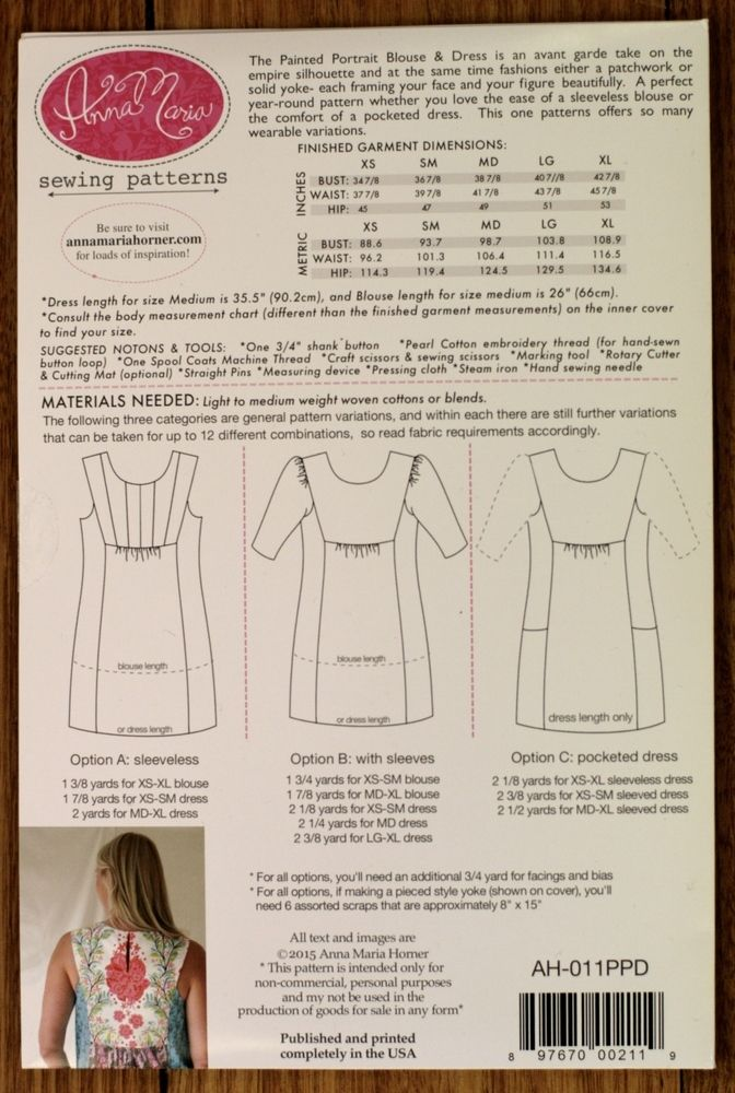 Anna Maria Horner Painted Portrait Dress pattern   sewing by Tina B ...