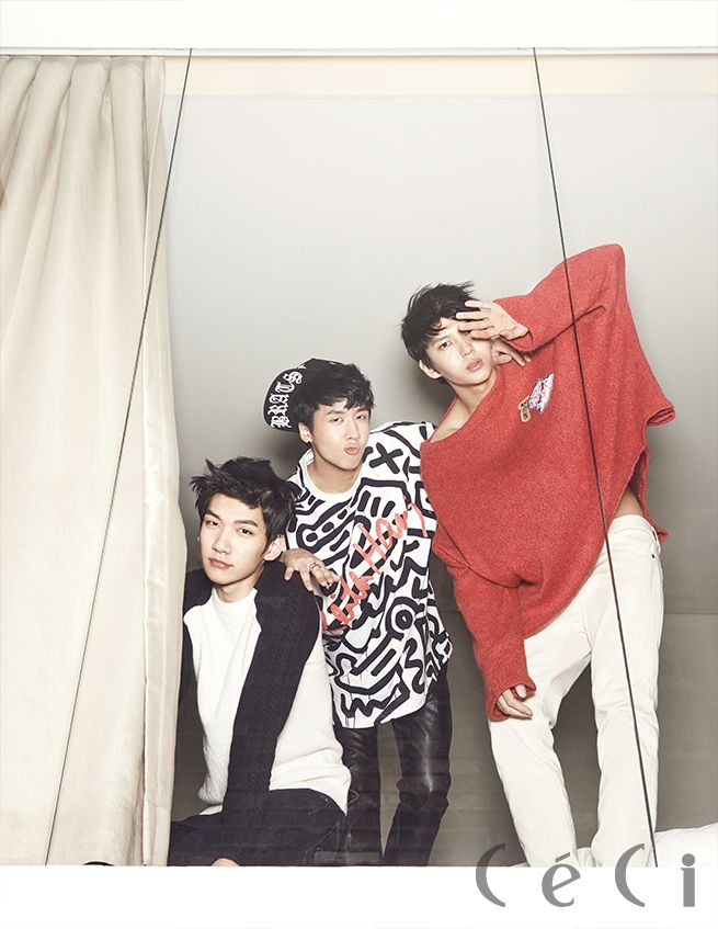 VIXX - Ceci Magazine January Issue '14 VIXX Hyuk, Ravi and Leo