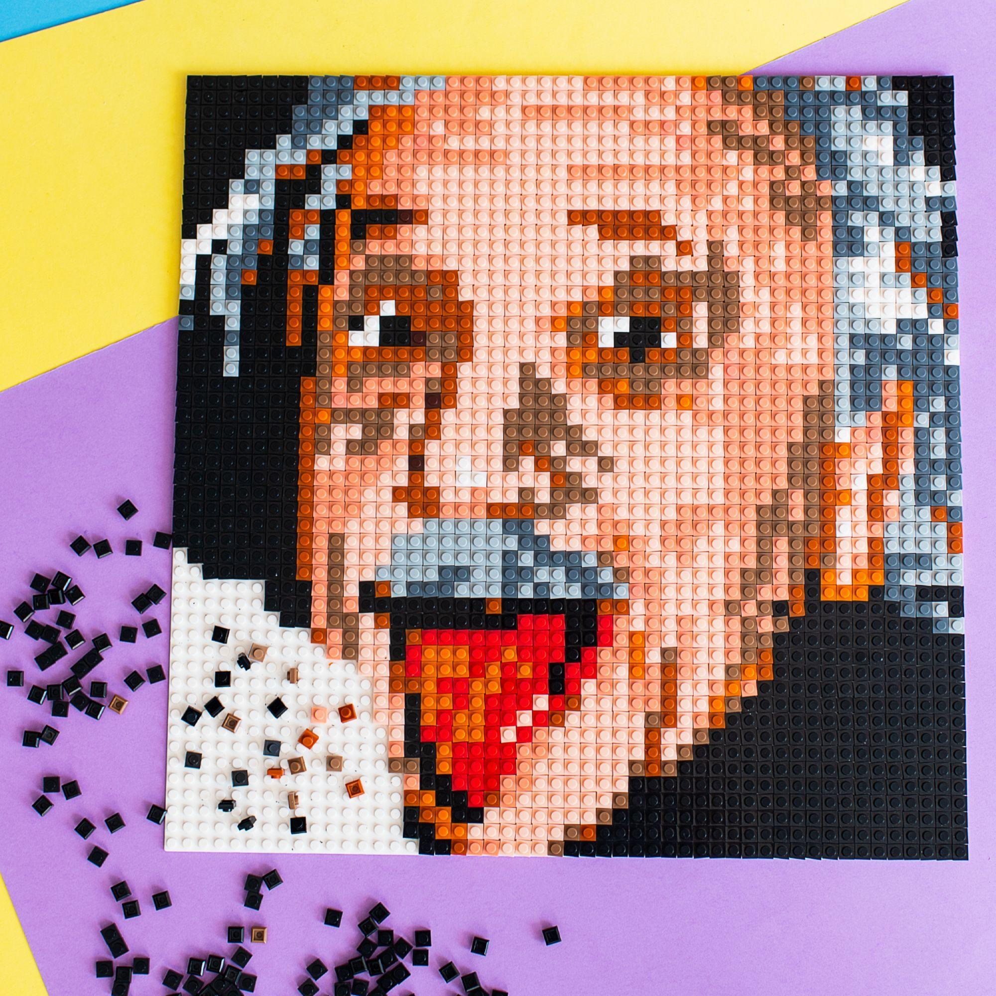 Lego Like Mosaic Portraits And Any Pictures By Selfiemosaic Albert Einstein Lego Diy Crafts Mosaic Diy Mosaic Portrait