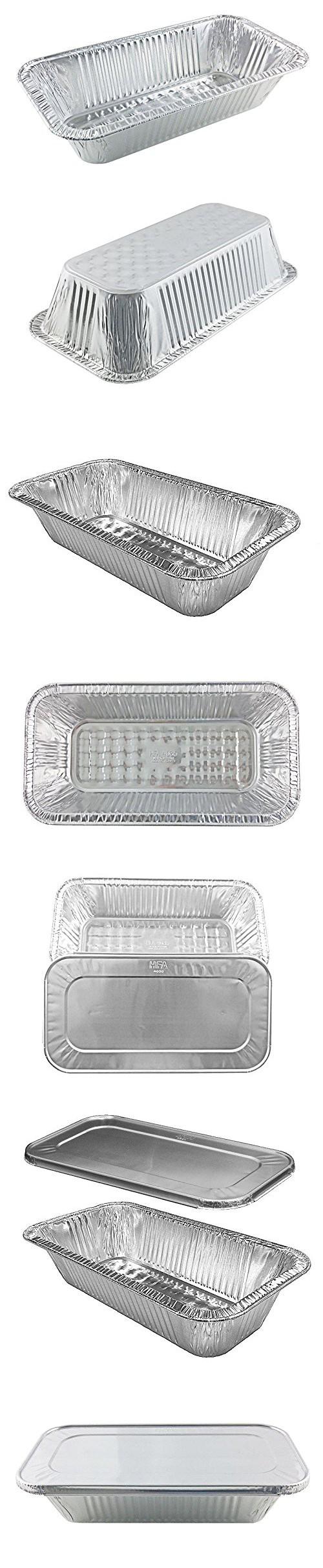 Handi-Foil 1/3 Third-Size TruFit Medium (4 lb.) Steam Table Aluminum Pan w/Lid (pack of 50)