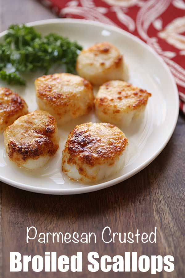 Broiled Scallops with Parmesan | Healthy Recipes Blog