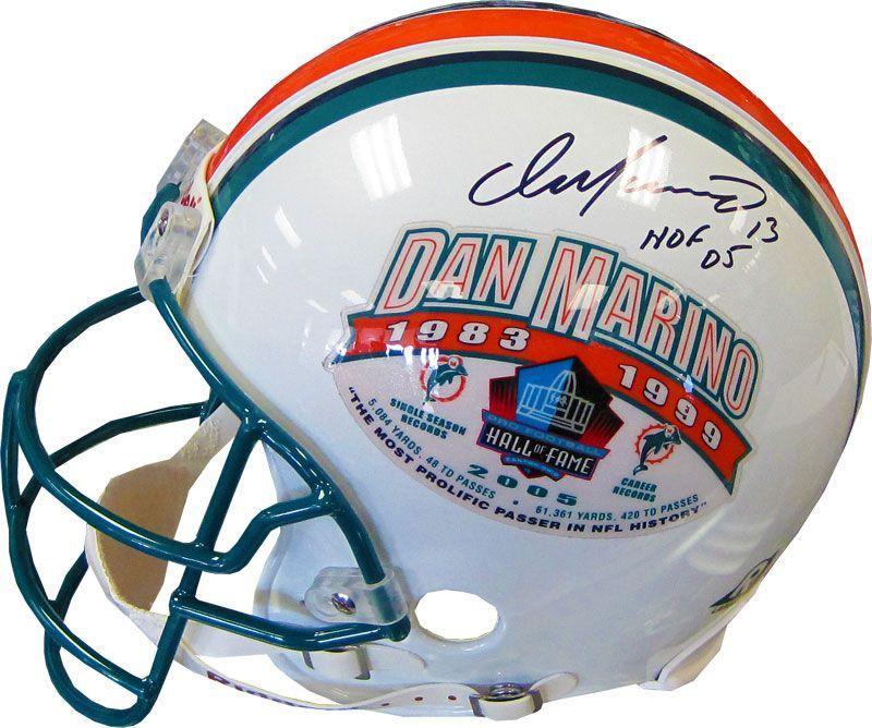 Dan marino hof 05 autographed miami dolphins authentic