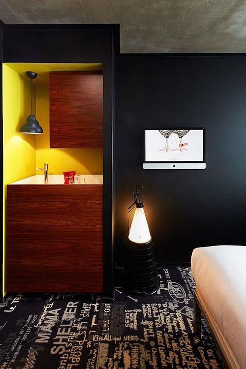mama shelter paris lobbies repurposed furniture and lighting solutions. Black Bedroom Furniture Sets. Home Design Ideas