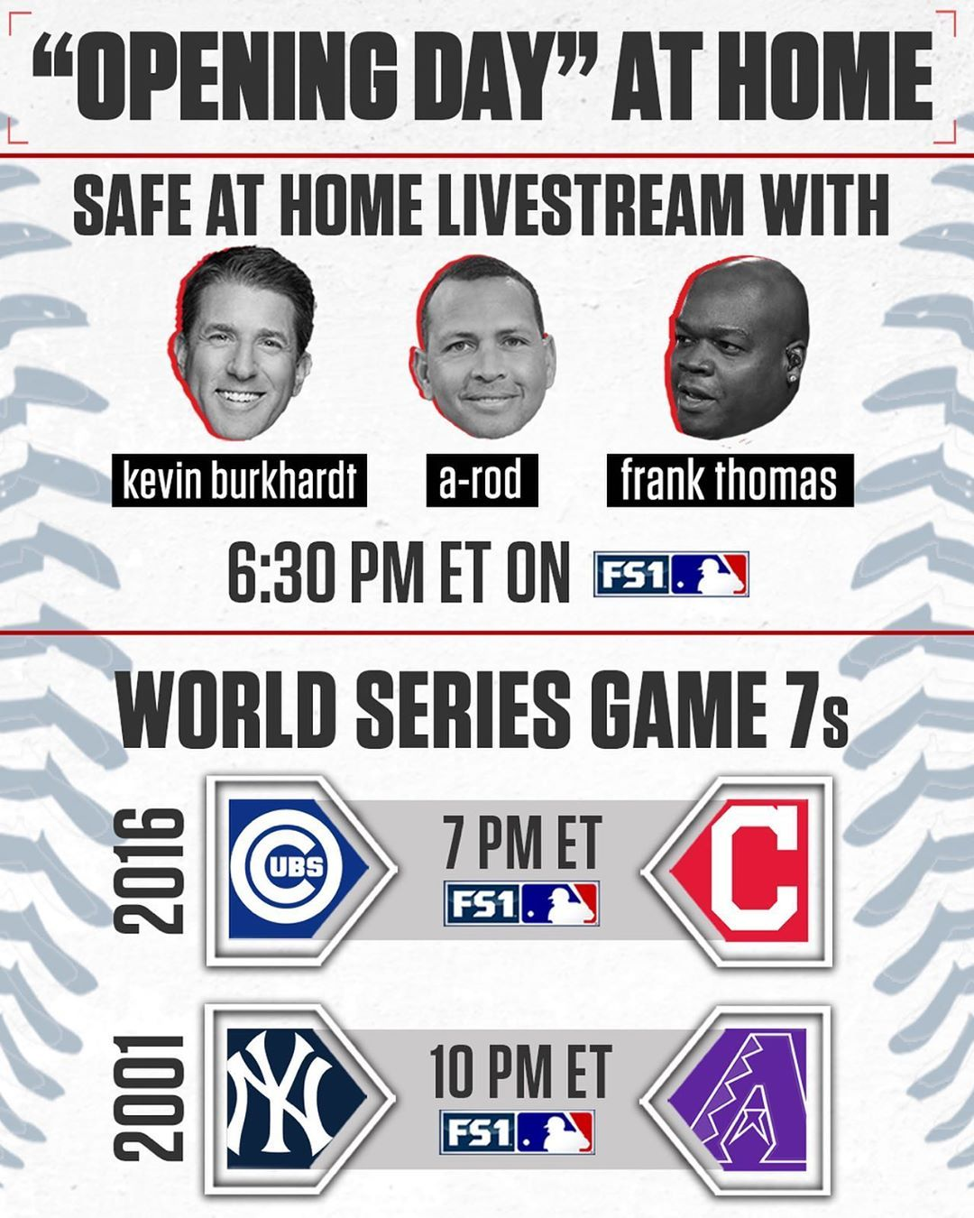 Mlb On Fox On Instagram There Is Still Coming Your Way It All Starts Tomorrow At 6 30 Pm Et On Fs1 In 2020 Mlb Instagram Frank Thomas