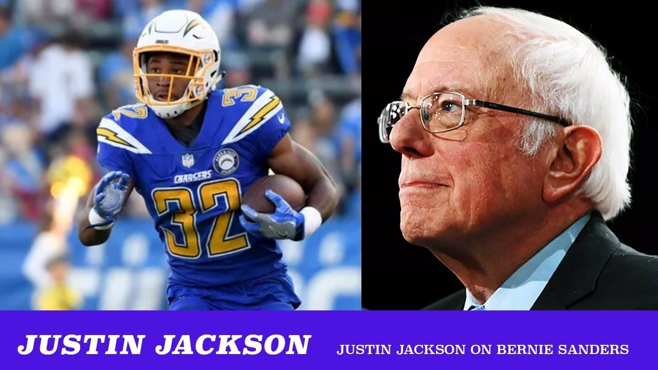 Chargers Running Back Justin Jackson Is Feeling The Bern In 2020 Justin Jackson Jackson Justin