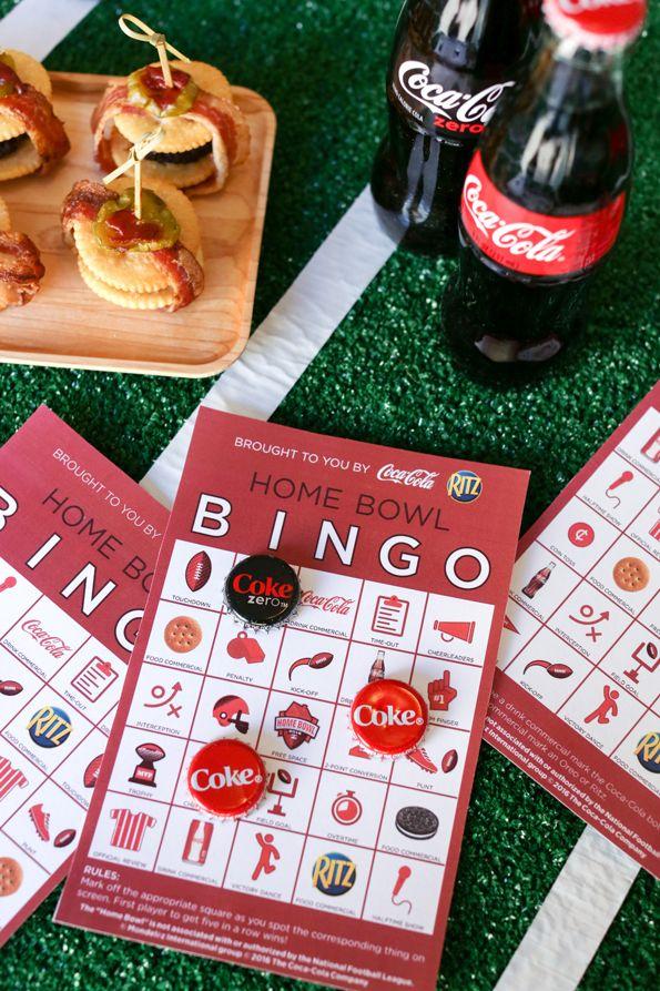 Free Printable Football Bingo Cards | Party food ideas for ...  |Bingo Party Snacks