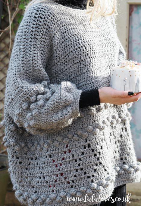 Crochet Pattern: Diamonds and Bobbles Jumper (Lululoves Crochet) | Ropa