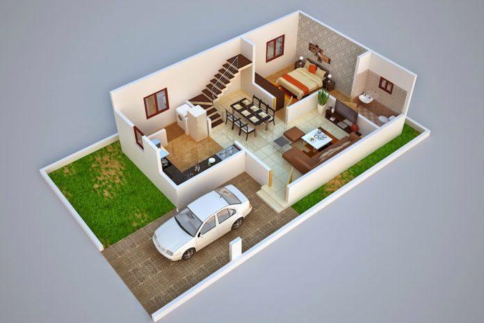 3d Duplex Home Plan Ideas Everyone Will Like Acha Homes 3d House Plans Duplex House Plans Duplex House Design