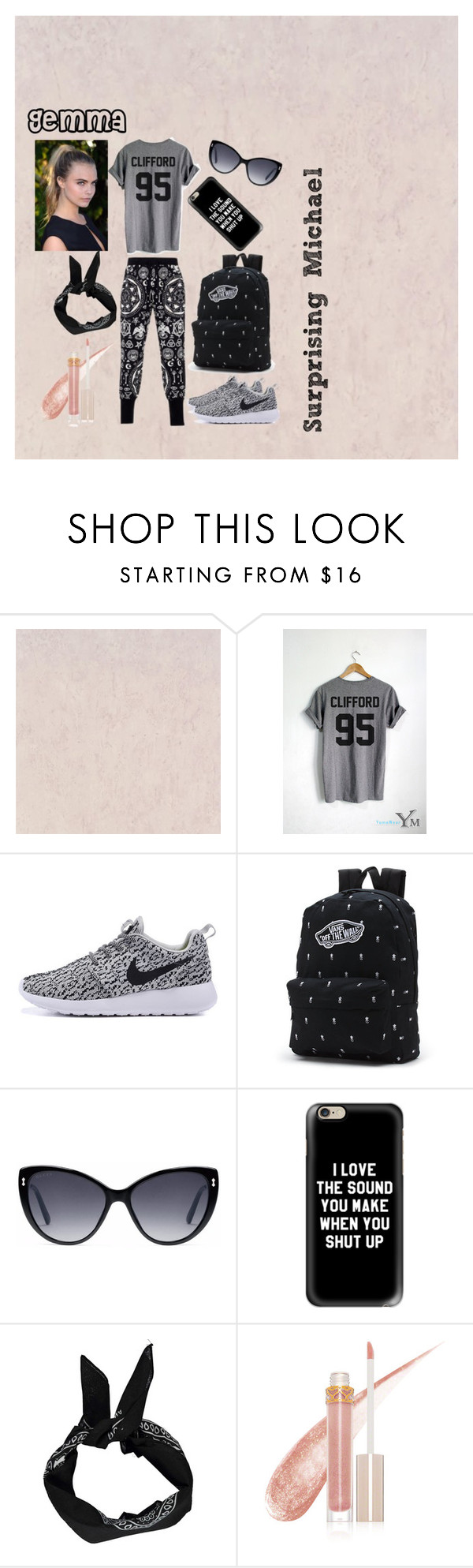 """Surprising Michael - Michael's Sister"" by socialrejectss on Polyvore featuring Killstar, Vans, Gucci, Casetify and Stila"